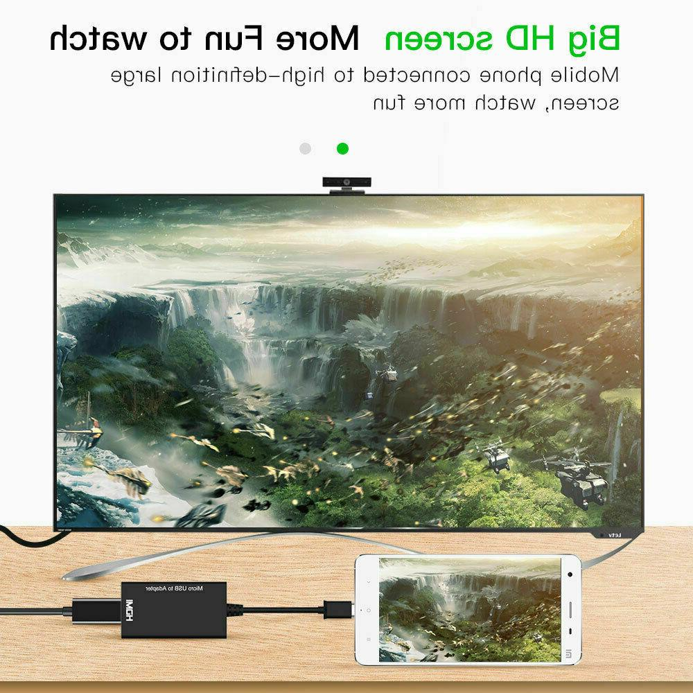 MHL Micro to HDMI Adapter Converter for Android Smartphone HD
