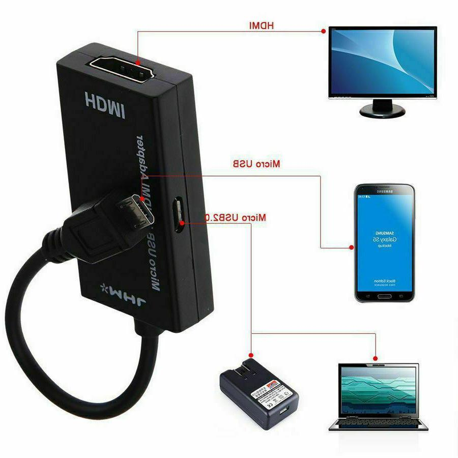 MHL Micro USB HDMI Adapter Converter for Android HD