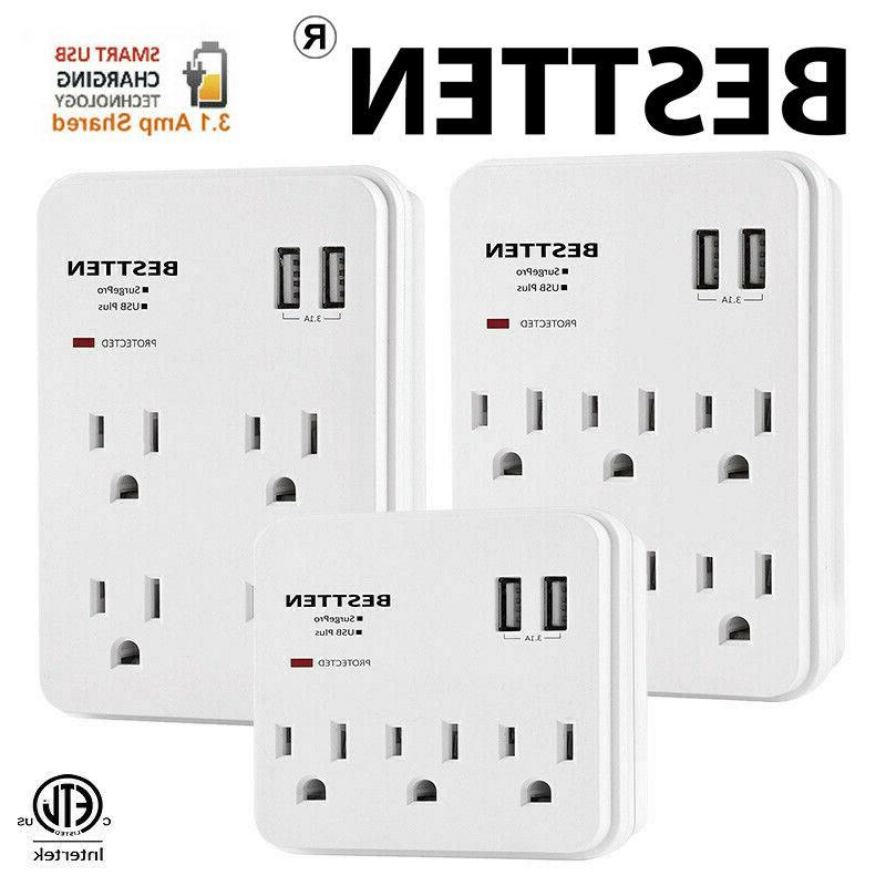 multi electrical outlet socket wall tap adapter