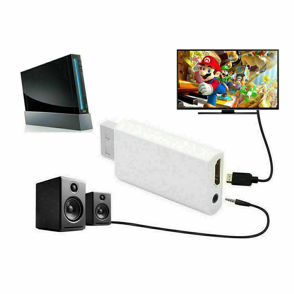 Portable Wii Wii2HDMI HD Audio Output TV Black