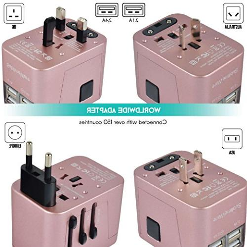 Power Plug International USB Ports Work 150+ Countries - Volt Adapter - Adapter A Type G Type I China European