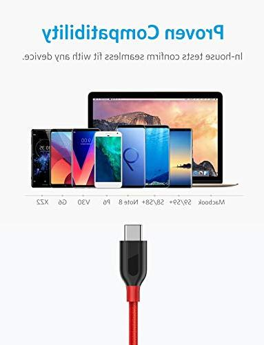 Anker Powerline+ USB-C USB-A, Charging Cable, for Samsung Galaxy / Note 8, Pro 2018, V20 G5 G6, and