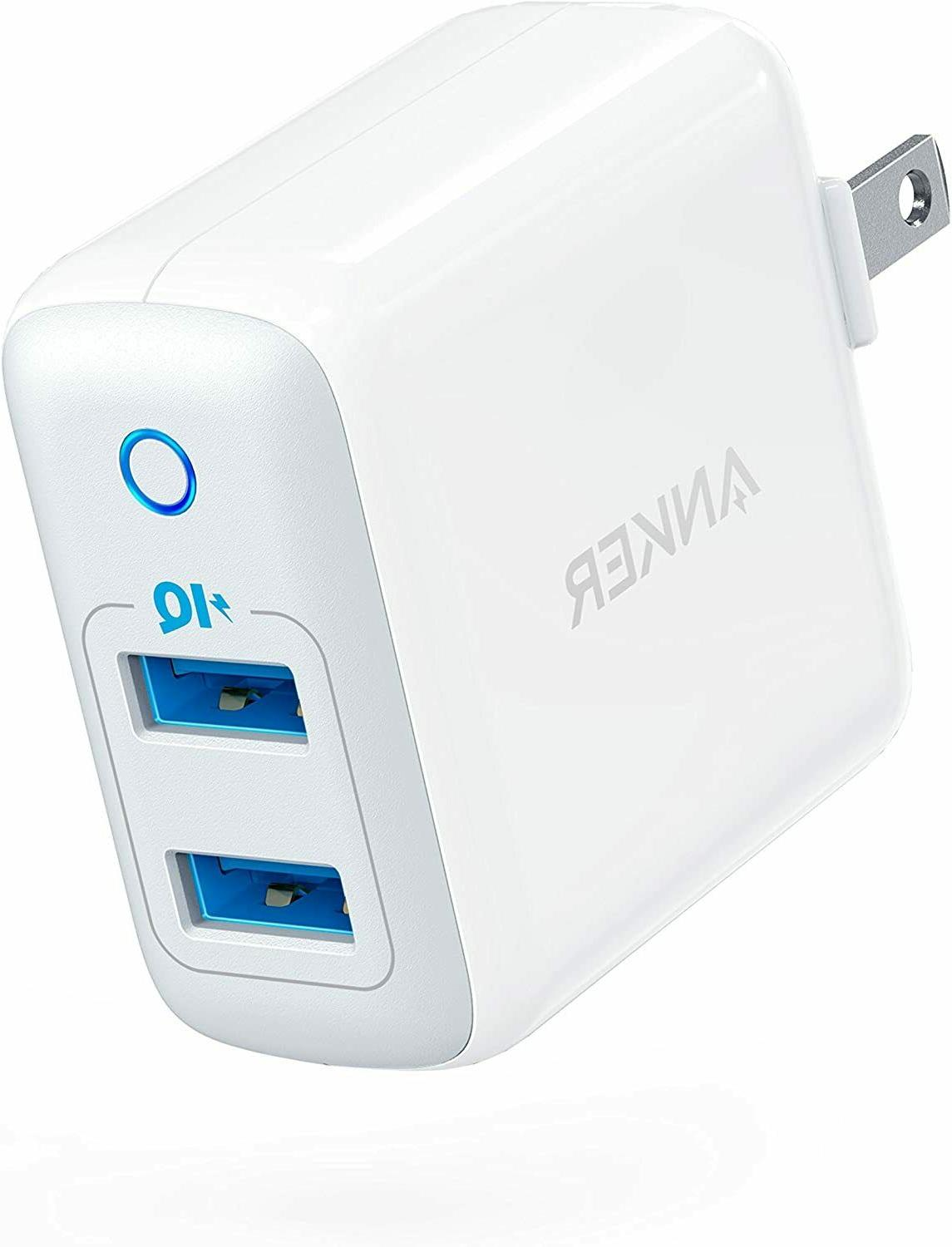 Anker USB Charger, PowerPort Ultra-Compact Charger PowerIQ Technology and Foldable Plug, XS/Max/XR/X/8/7/6/Plus, iPad Galaxy S9/S8/+