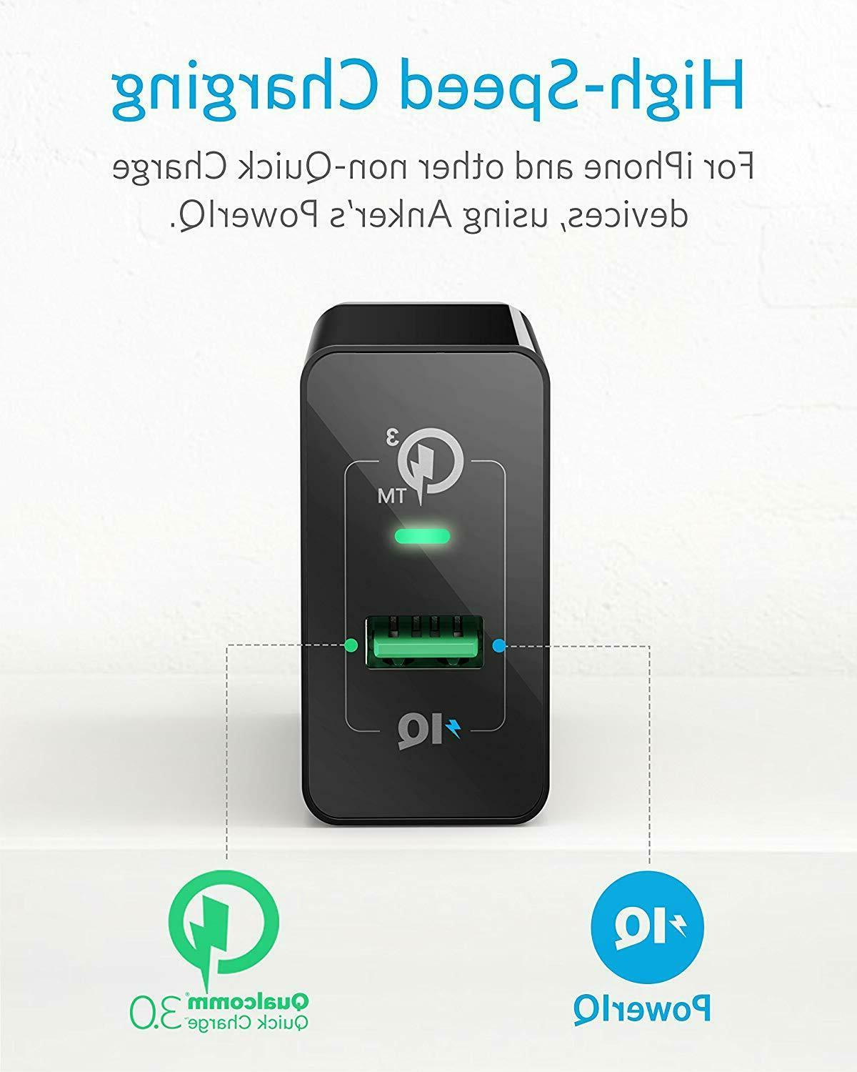 Anker Quick Charge USB Wall Charger Adapter Galaxy S9