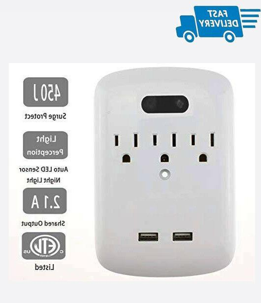surge protector power wall mount adapter 3