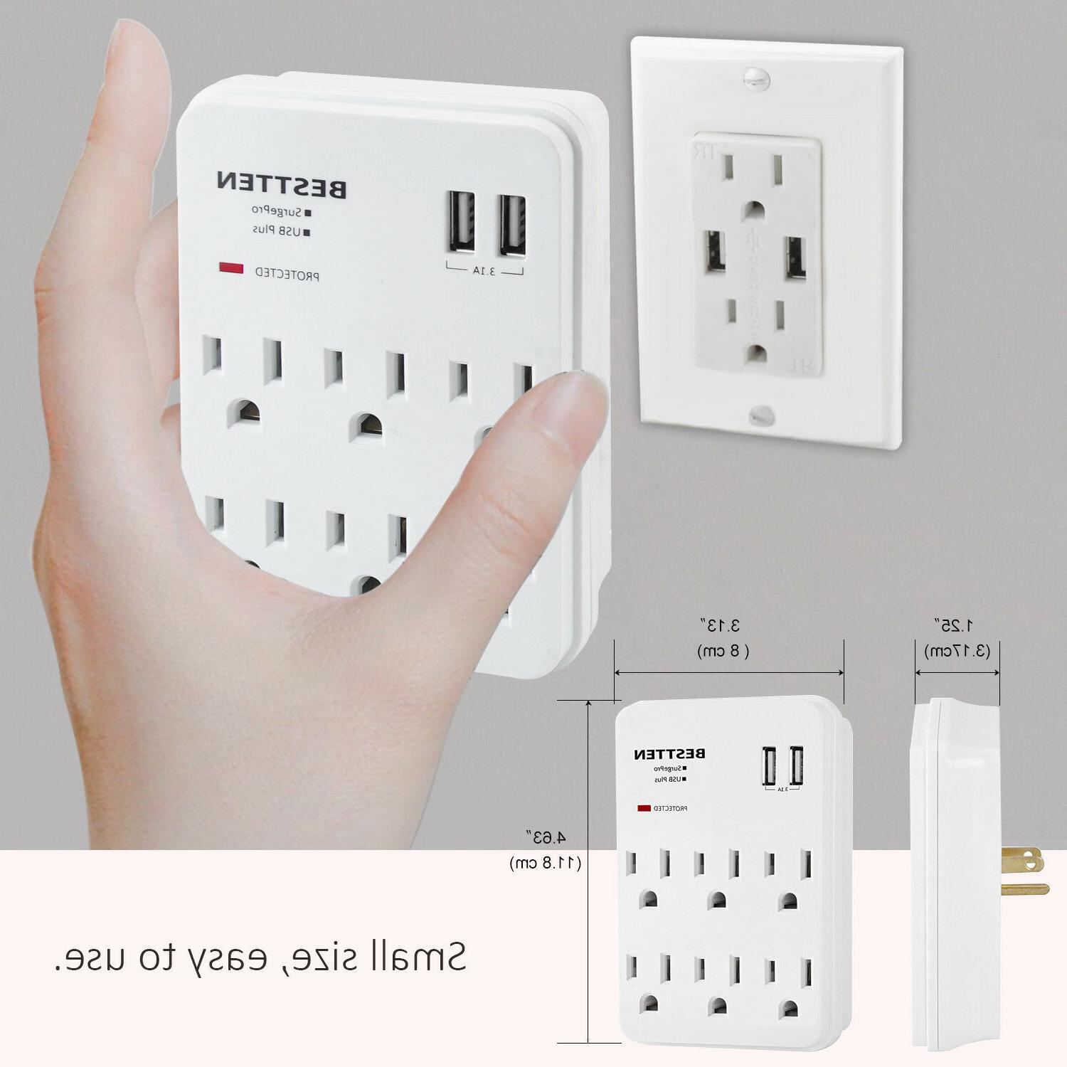 Surge Tap Adapter Outlet Plug Ports