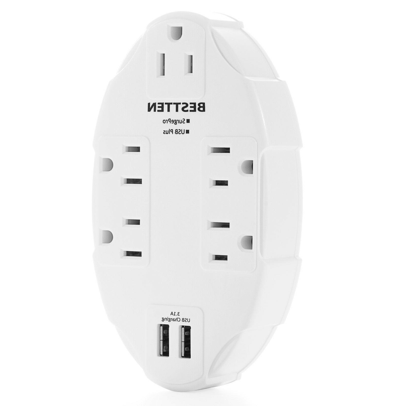 Surge Protector Adapter Electrical Plug with Ports