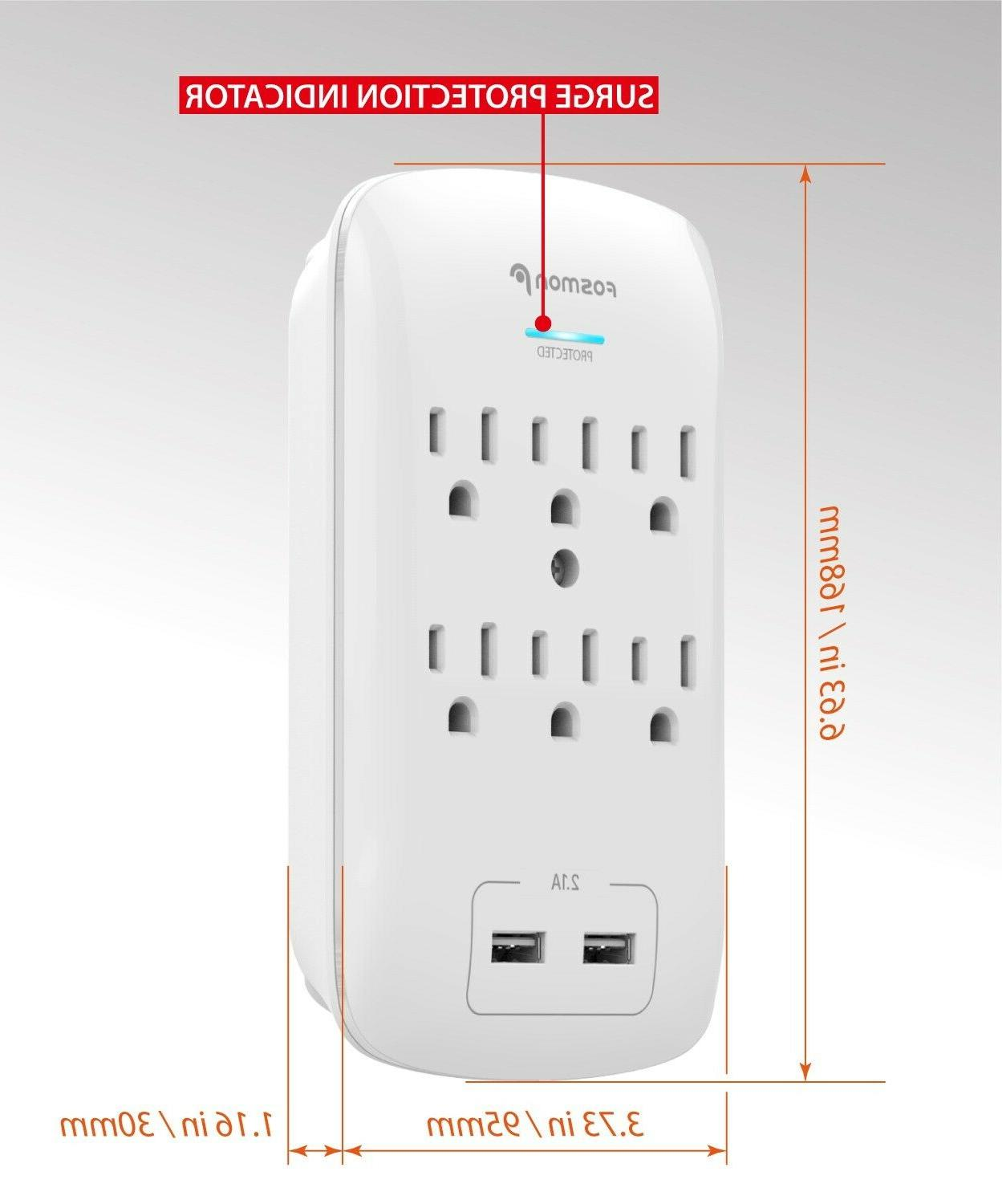 2 Surge Port Wall Charger Tap