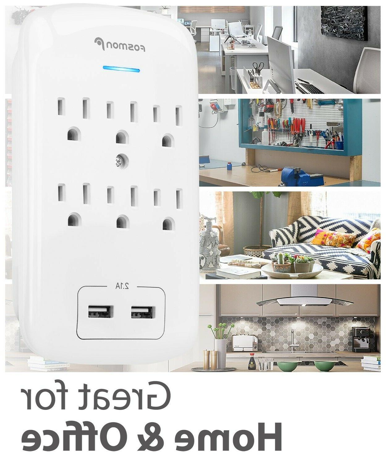 2 Pack Surge Protector Port Tap