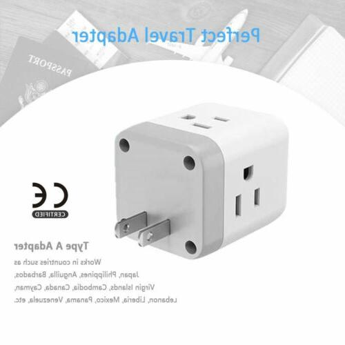 Travel to Japan Canada Mexico With Outlets 2 USB