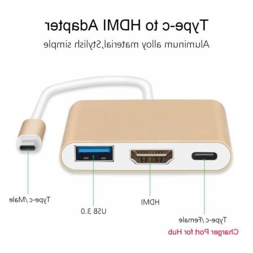 Type C to USB-C USB 3.0 3 1 Hub For