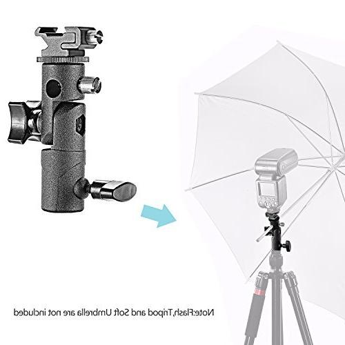 Neewer Professional Universal Type Camera Mount Swivel Bracket with Umbrella for Olympus and Other Flashes, Studio LED