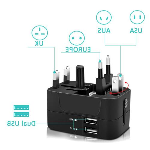 Electrical Travel Charger Adapter Plug US EU