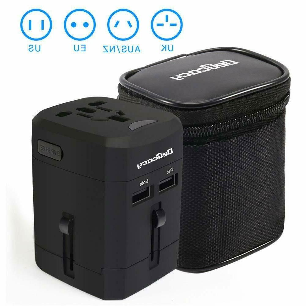 universal travel adapter worldwide all in one