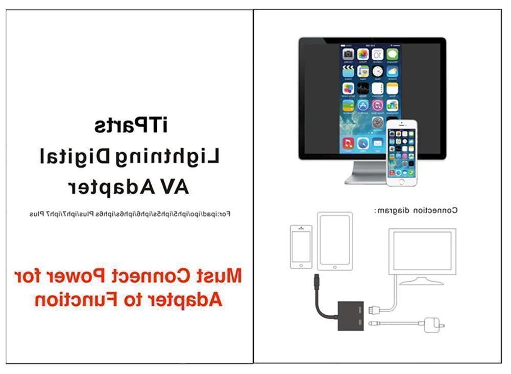 US to Adapter Cable Digital TV iPad