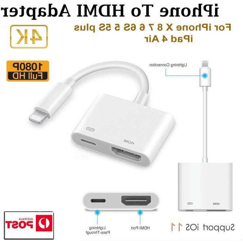 US For X Ipad HDMI AV Adapter Cable