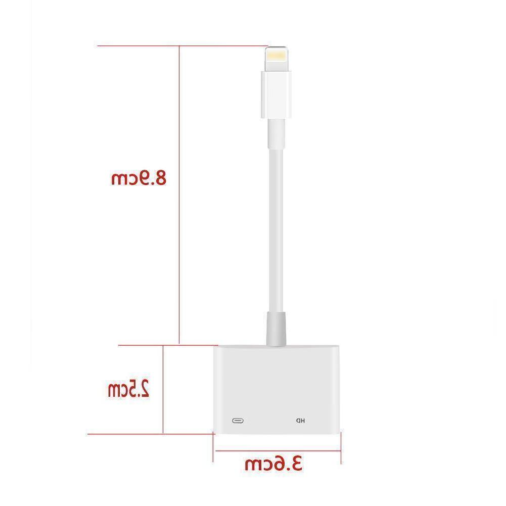 US Lightning HDMI Adapter Cable TV iPhone6/7/8 iPad 1080P