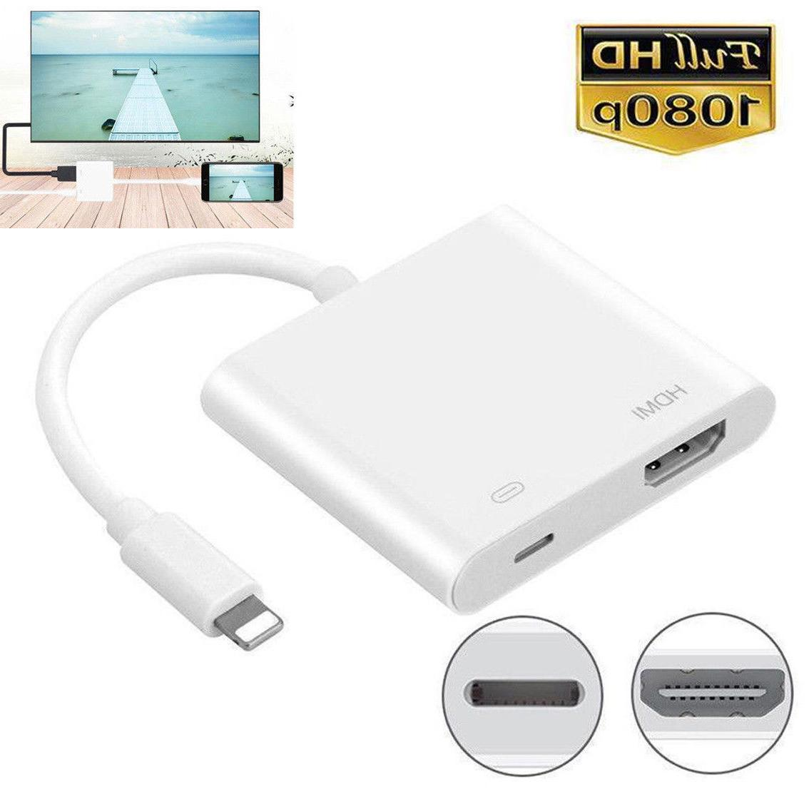 US For Apple Iphone 6 7 X HDMI TV Adapter Cable