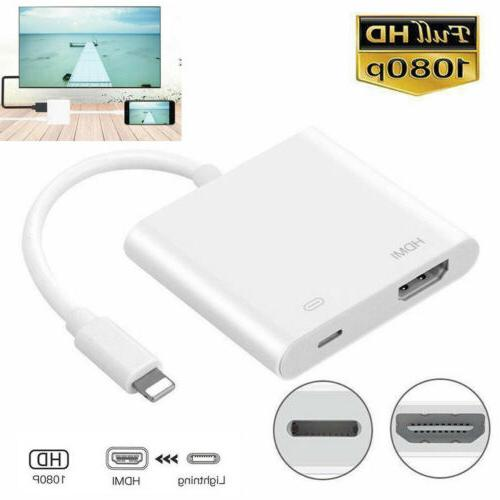 us lightning to hdmi adapter cable digital
