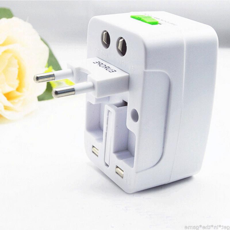 US to EU Europe Universal Charger Converter AC Power Plug Socket
