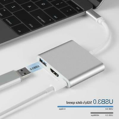 USB 3.1 Type USB-C HDMI For Apple Macbook More