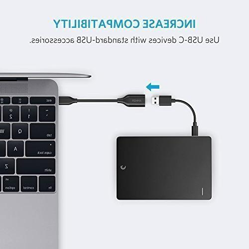 Anker USB-C to 3.1 Adapter, Female into Uses Compatible Samsung Note 8, Galaxy S8 S8+ S9, Nexus V20 more