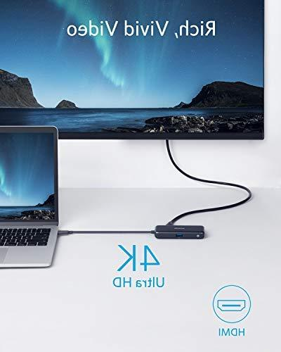 Anker USB 4K USB HDMI Adapter, 3.0, with 60W Charging Port for Pro ChromeBook, and More