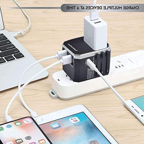 Power Plug Adapter - 5 Charger for I G Outlets - EU US - European Adaptor