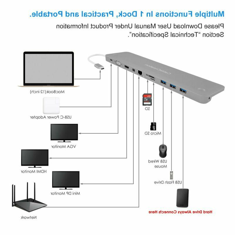 CableCreation Type C Multiport 4K Adapter, 3 USB-C