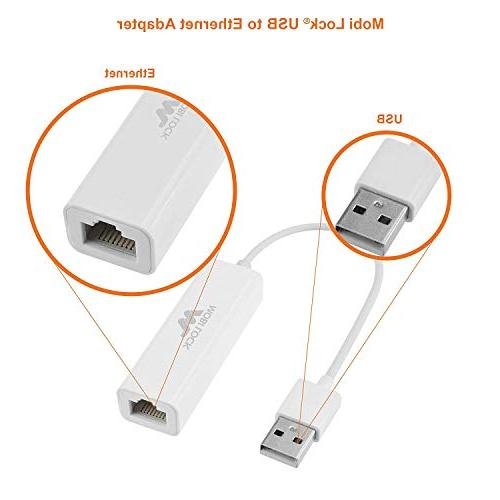 Mobi Lock - Ethernet Network Adapter for MacBook Air, MacBook Pro, iMac, Laptop, and 2.0 Compatible 10/8.1/8 / / Vista/XP