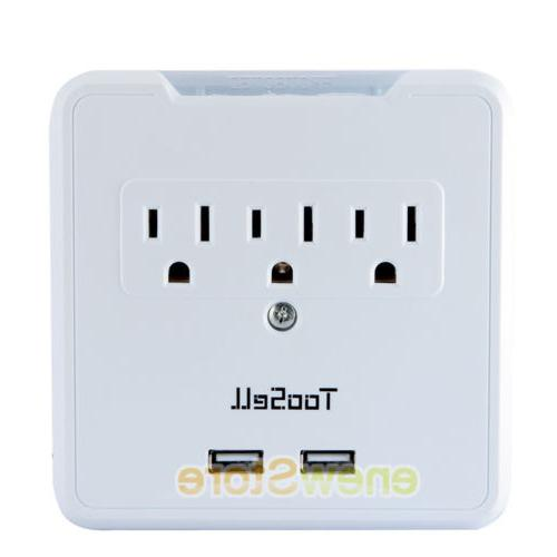 USB Outlet Tap Surge Adapter