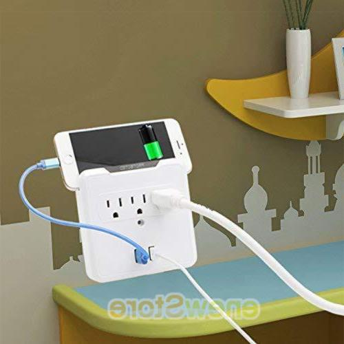 USB Plug Tap Electrical Charger Surge Protector Adapter