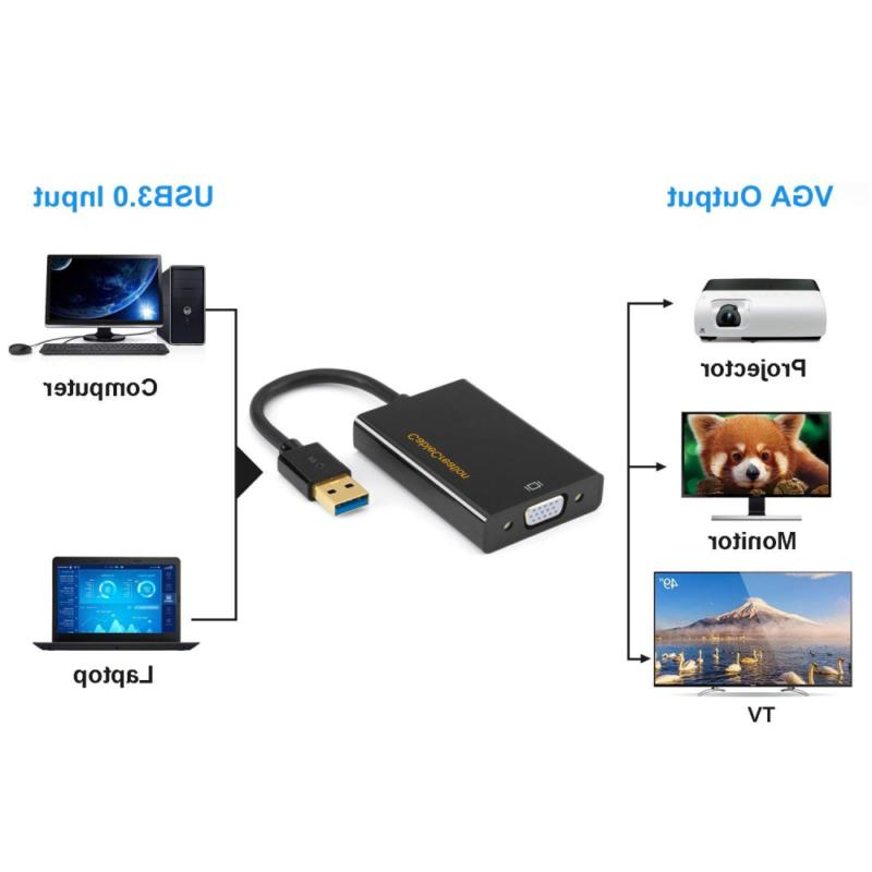USB To VGA CableCreation SuperSpeed 3.0 For