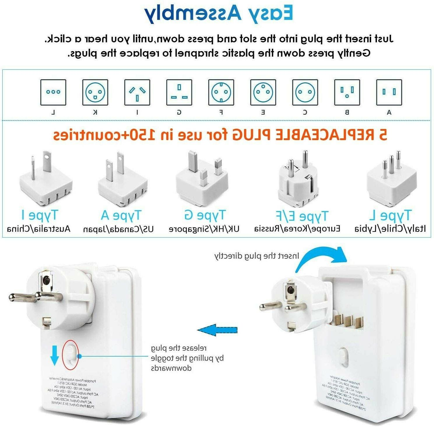 Worldwide Travel Adapter Electrical Adapters Travel Charger