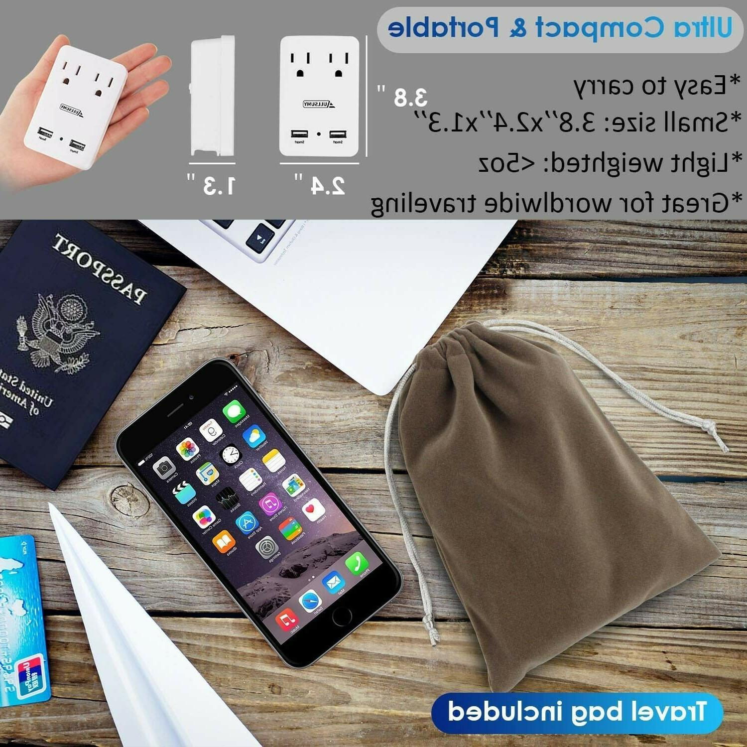 Worldwide Adapter Electrical Adapters Travel Power Charger