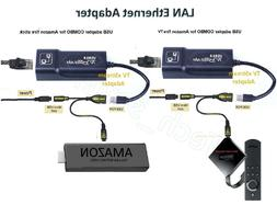 LAN Ethernet Adapter for AMAZON FIRE TV 3 or STICK GEN 2 or