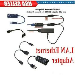 LAN Ethernet Connector & USB Adapter For Amazon Fire Stick 2