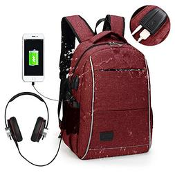 Laptop Backpack, WInblo 15.6 Inch College Backpack with USB