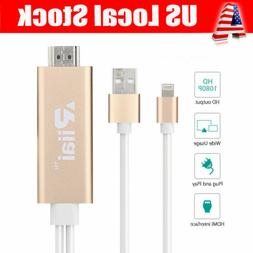 Lightening to HDMI TV AV 1080p 1.7M Cable Adapter for iPhone