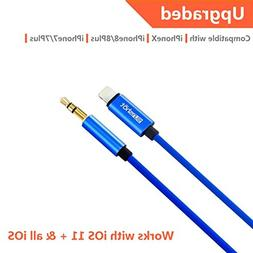Lightning to 3.5mm Male Aux Stereo Audio Cable, Compatible
