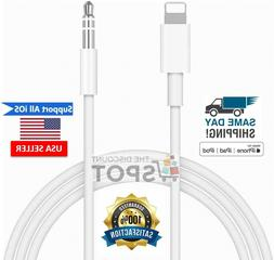 Lightning to 3.5mm AUX Audio Car Adapter Cord For iPhone 7 8