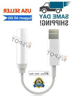 Lightning to 3.5mm Headphone Jack Adapter cord dongle iPhone