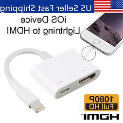 Lightning to Digital AV TV HDMI Cable Adapter For Ipad iphon
