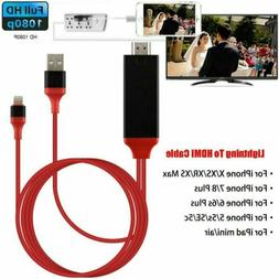 Lightning To HDMI Digital AV TV Cable Adapter For iPhone Xs