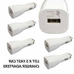 LOT 5 fast rapid Car Charger 2A adaptive POWER Adapter FOR I