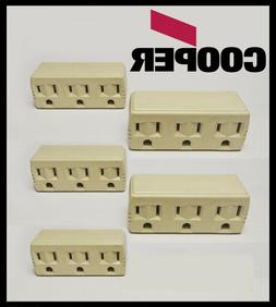 Lot of  Convert 1 to 3 TRIPLE OUTLET GROUNDED ELECTRIC Wall