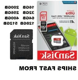 Sandisk Micro SD Card Ultra Memory Card with MicroSD to SD A