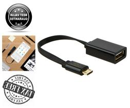Micro USB 2.0 OTG Cable Flat On The Go Adapter Micro USB Mal