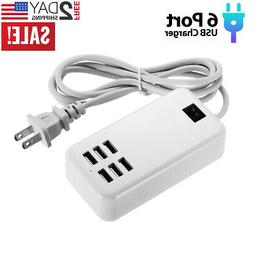 Multi Port USB Charger 6 Ports Adapter Travel Hub AC Power S