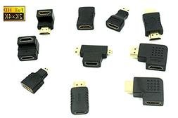 Multiple Hdmi Connector Adapters Kit 10 Adapters 4K, 1080p,